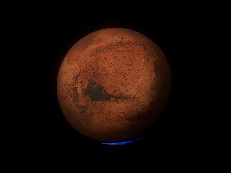 Mars 8k 3d model 3ds fbx blend dae obj