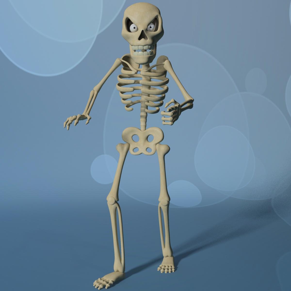 karikatūra skelets rigged 3d modelis 3ds max fbx obj 215120