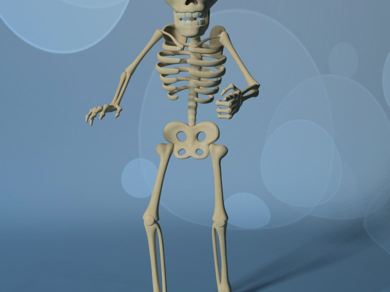 Cartoon Skeleton Rigged ( 507.89KB jpg by supercigale )