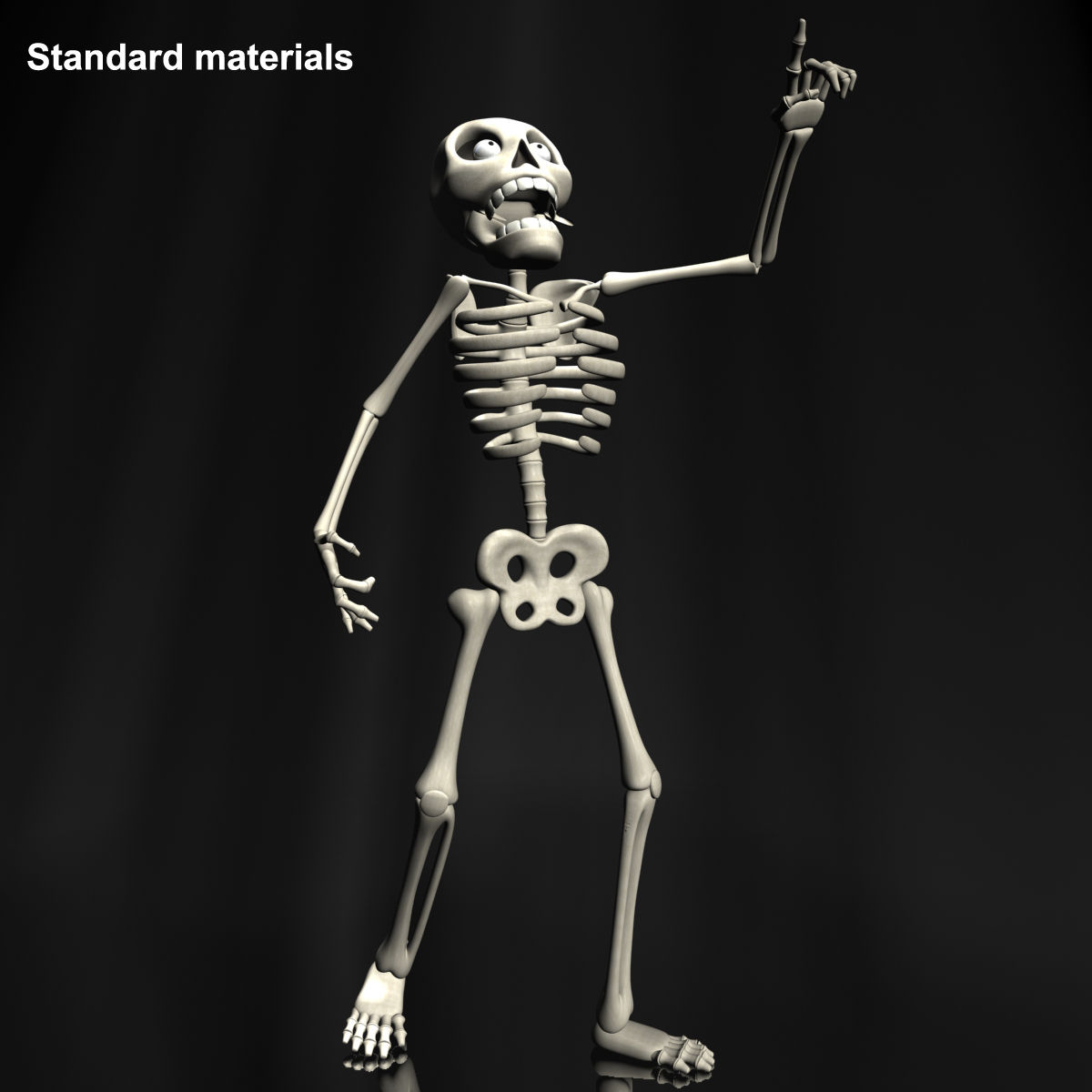 karikatūra skelets rigged 3d modelis 3ds max fbx obj 215121