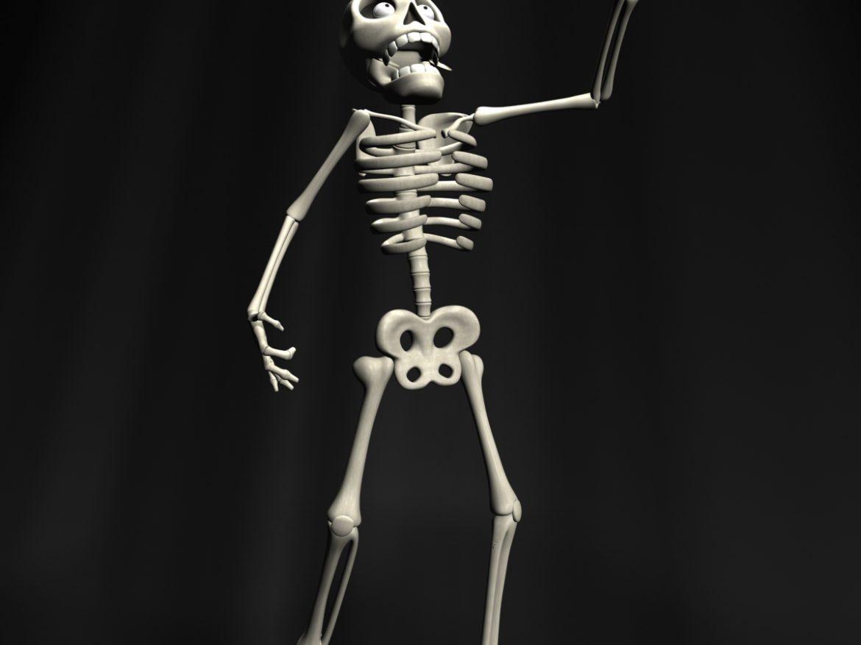 Cartoon Skeleton Rigged ( 463.07KB jpg by supercigale )