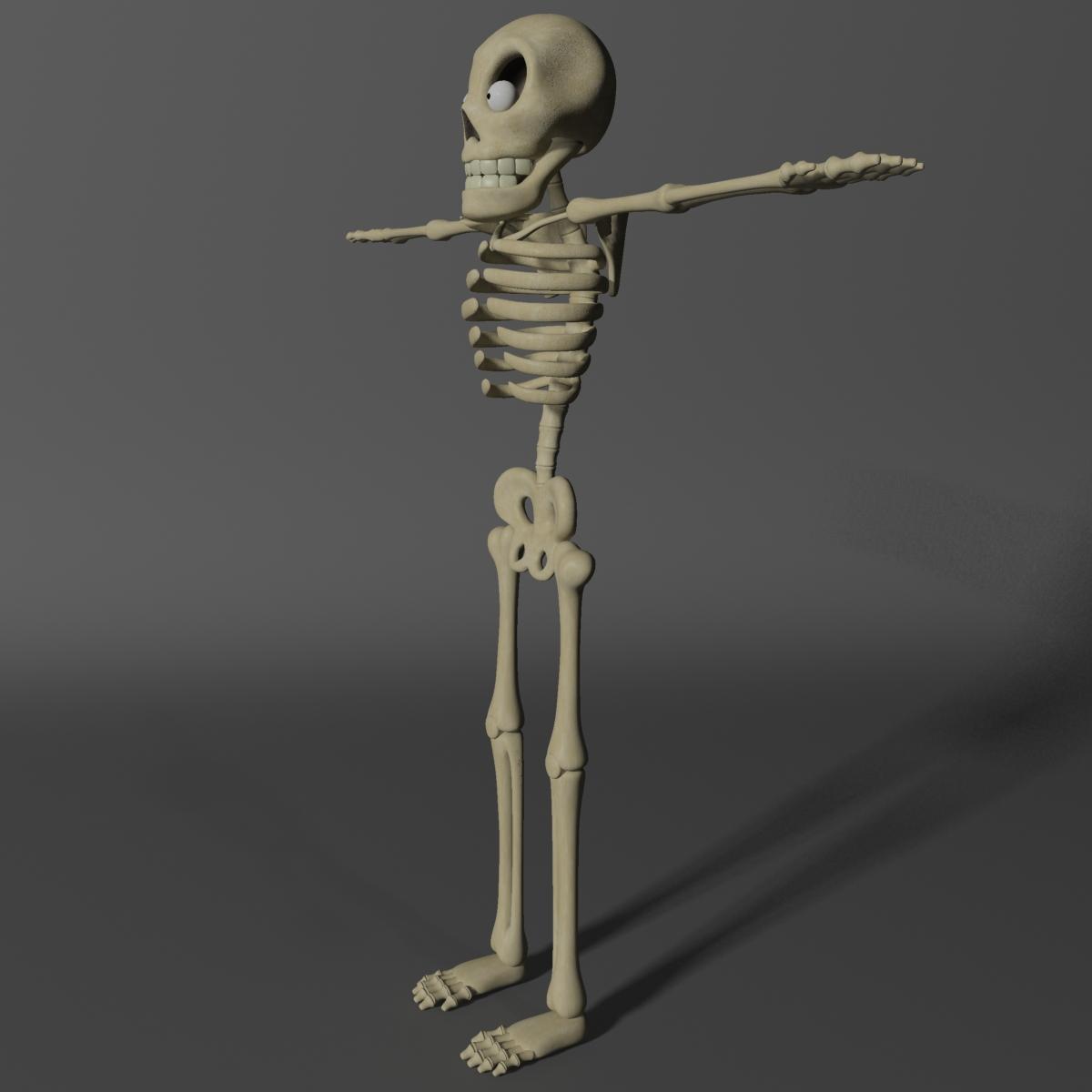 karikatūra skelets rigged 3d modelis 3ds max fbx obj 215122