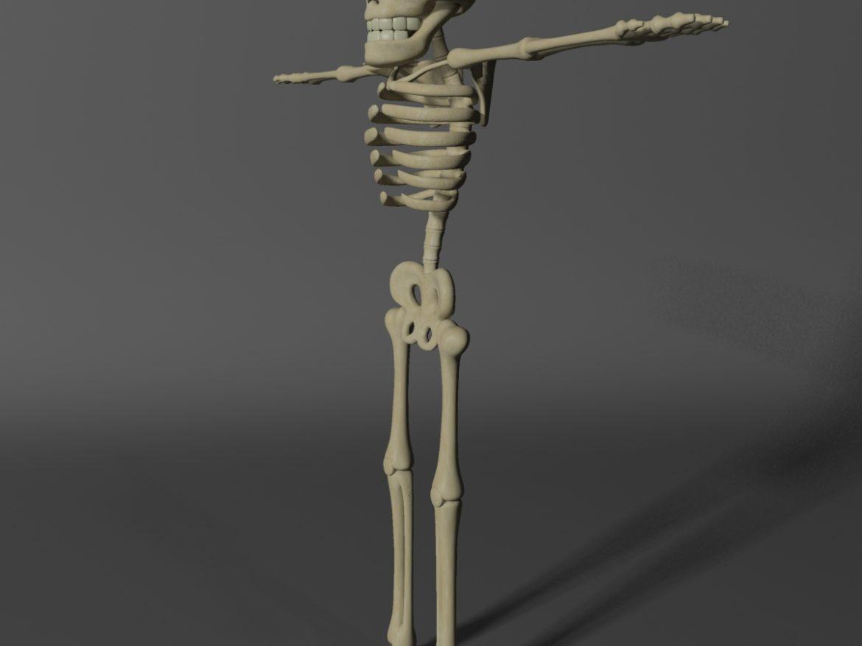 Cartoon Skeleton Rigged ( 359.43KB jpg by supercigale )