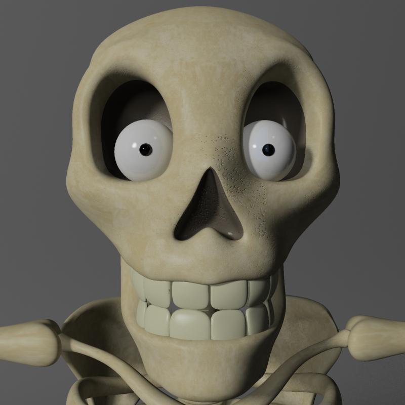 karikatūra skelets rigged 3d modelis 3ds max fbx obj 215124