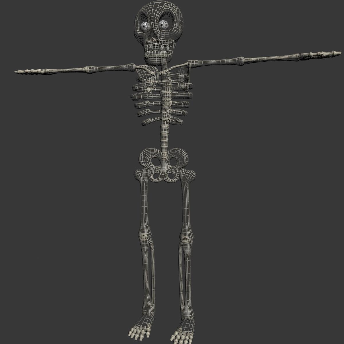 karikatūra skelets rigged 3d modelis 3ds max fbx obj 215125