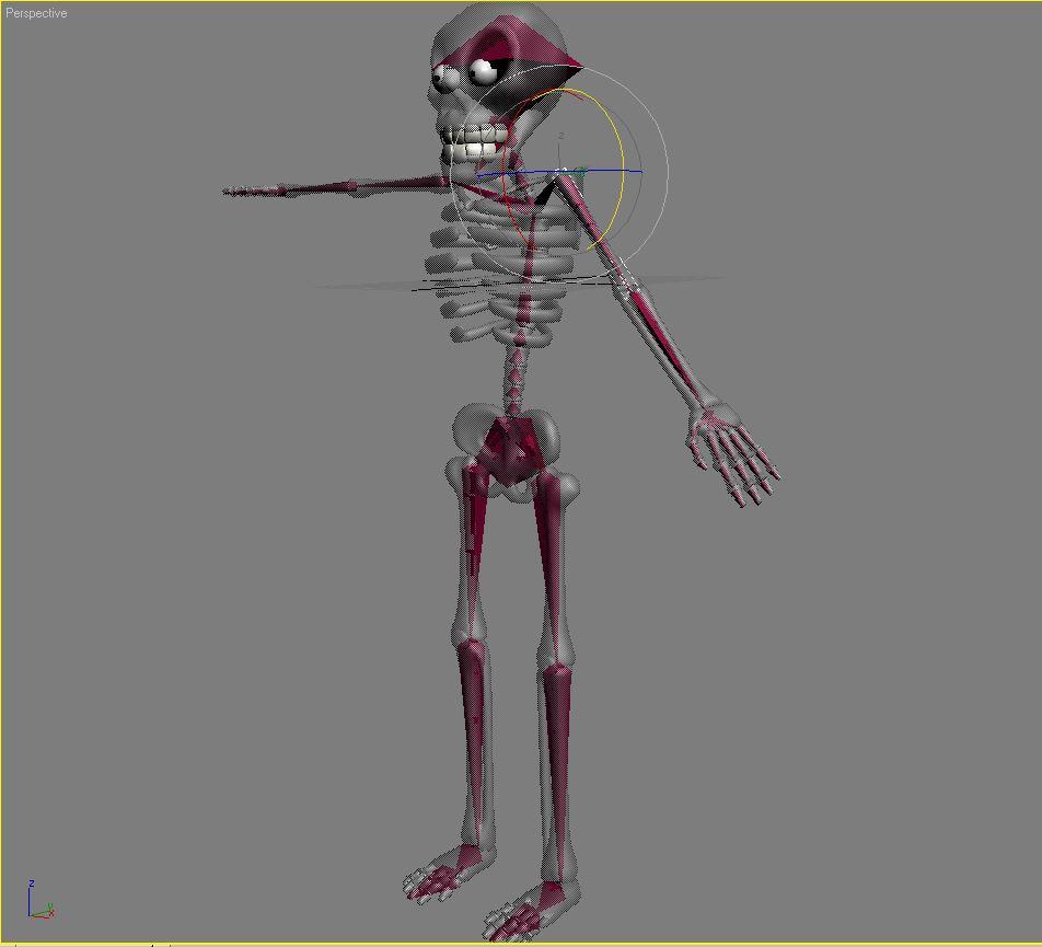 karikatūra skelets rigged 3d modelis 3ds max fbx obj 215126