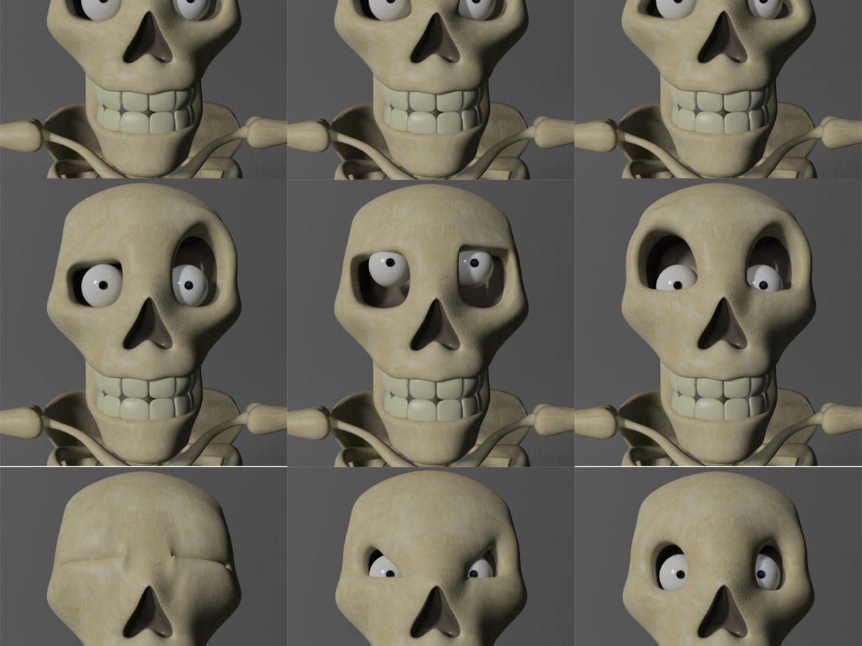 Cartoon Skeleton Rigged ( 727.88KB jpg by supercigale )