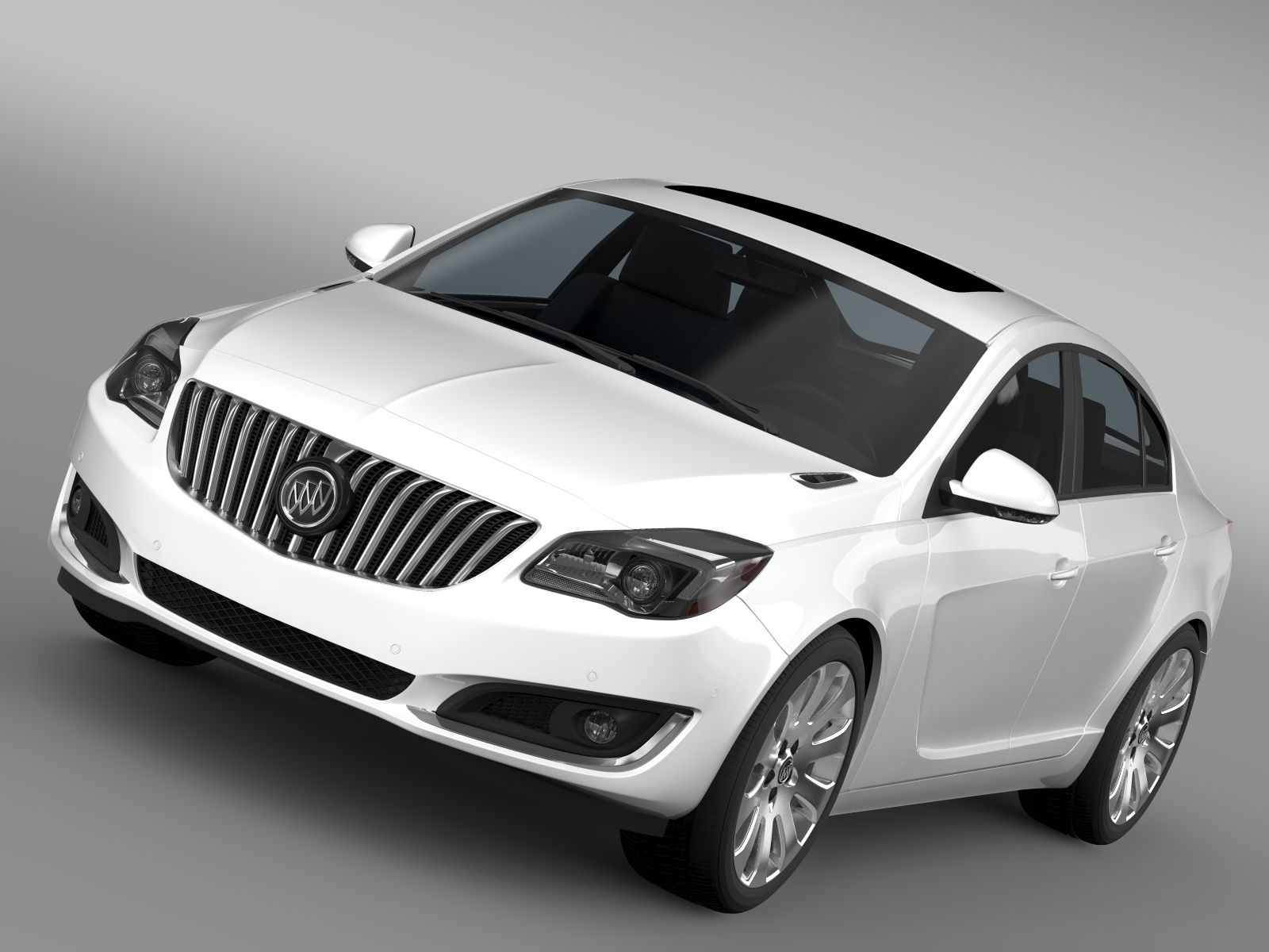 buick regal flexfuel 2015 3d model 3ds max fbx c4d lwo ma mb hrc xsi obj 215176