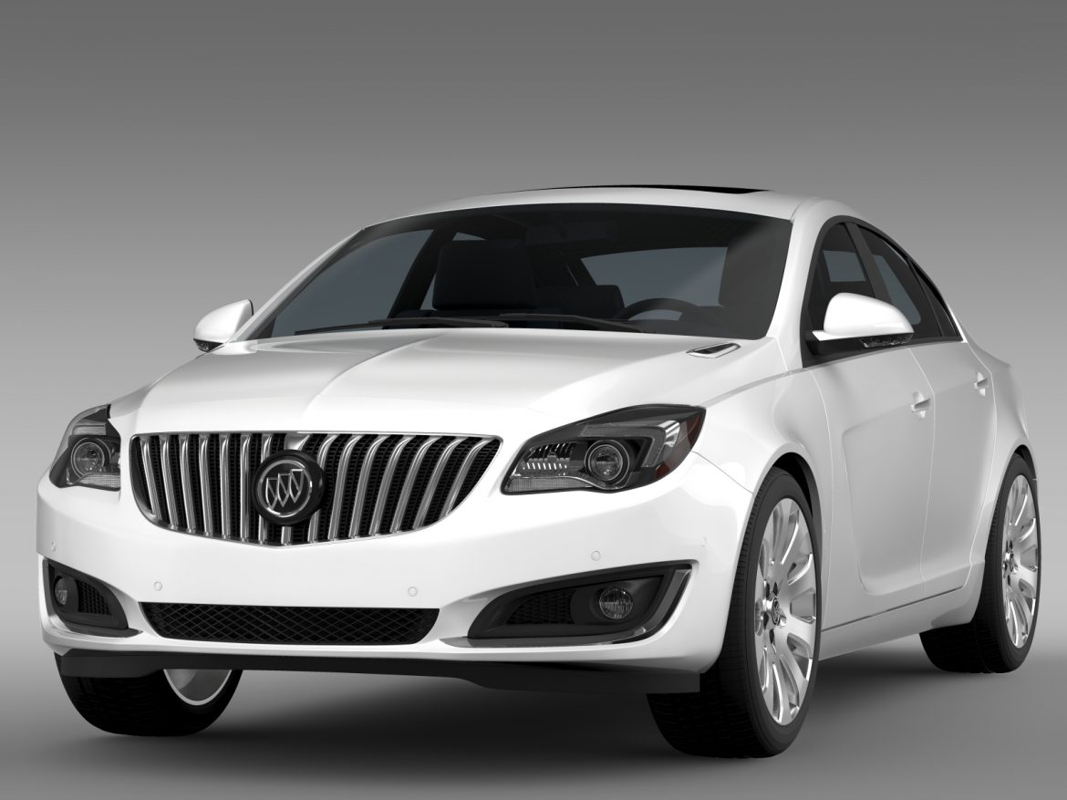 buick regal flexfuel 2015 3d model 3ds max fbx c4d lwo ma mb hrc xsi obj 215178