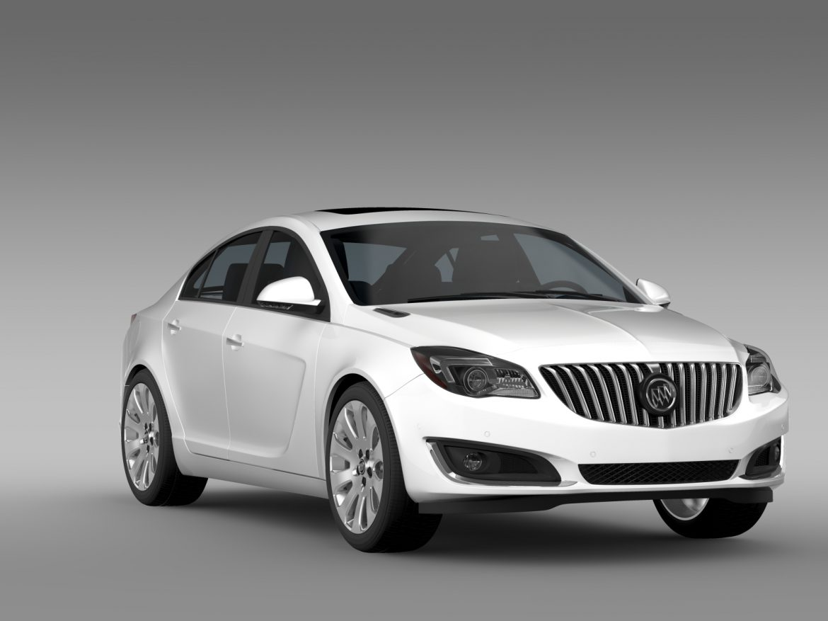 buick regal flexfuel 2015 3d model 3ds max fbx c4d lwo ma mb hrc xsi obj 215179