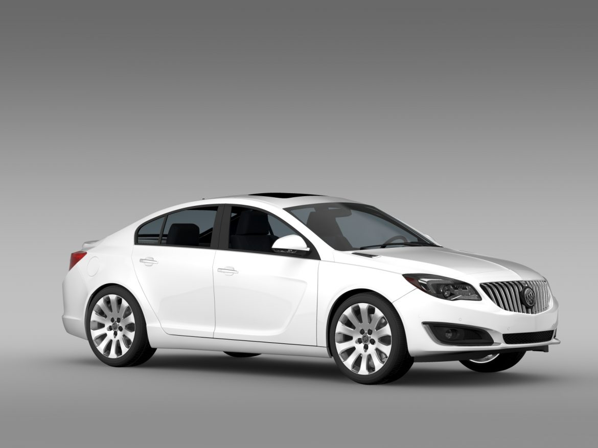 buick regal flexfuel 2015 3d model 3ds max fbx c4d lwo ma mb hrc xsi obj 215182