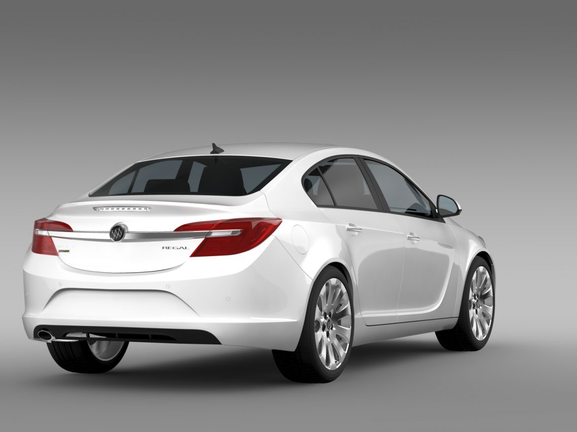 buick regal flexfuel 2015 3d model 3ds max fbx c4d lwo ma mb hrc xsi obj 215183