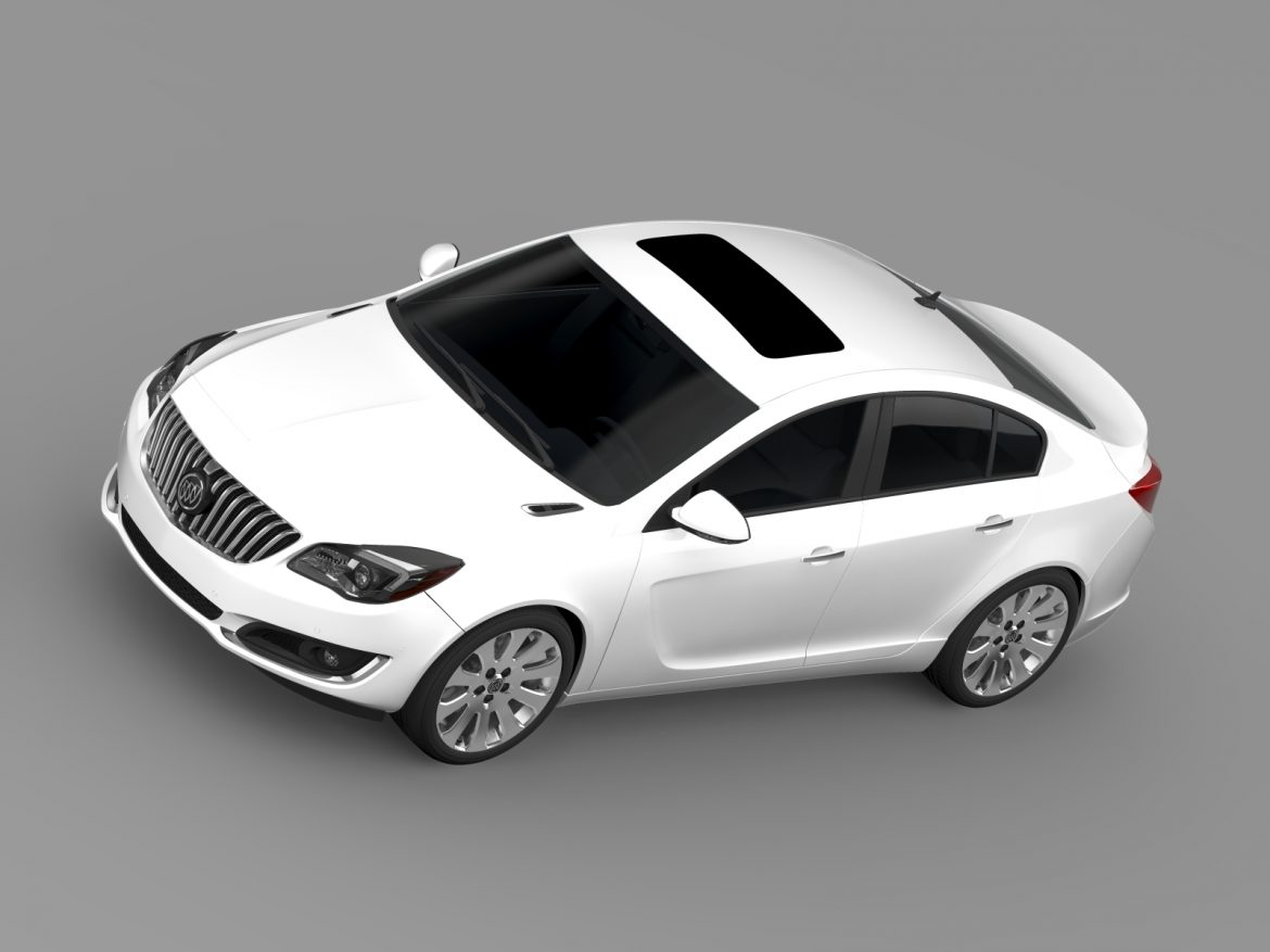 buick regal flexfuel 2015 3d model 3ds max fbx c4d lwo ma mb hrc xsi obj 215185