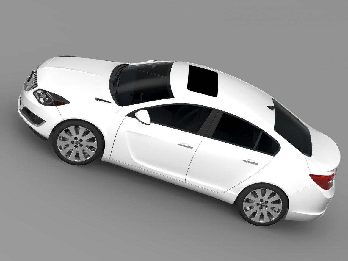 buick regal flexfuel 2015 3d model 3ds max fbx c4d lwo ma mb hrc xsi obj 215186