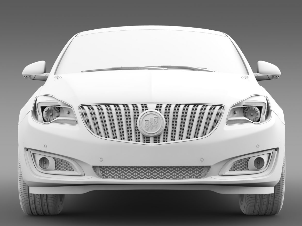 buick regal flexfuel 2015 3d model 3ds max fbx c4d lwo ma mb hrc xsi obj 215189