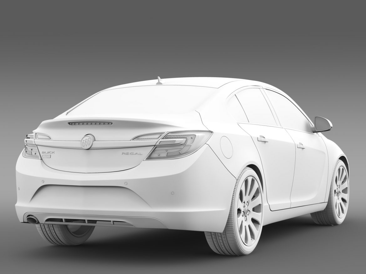 buick regal flexfuel 2015 3d model 3ds max fbx c4d lwo ma mb hrc xsi obj 215190