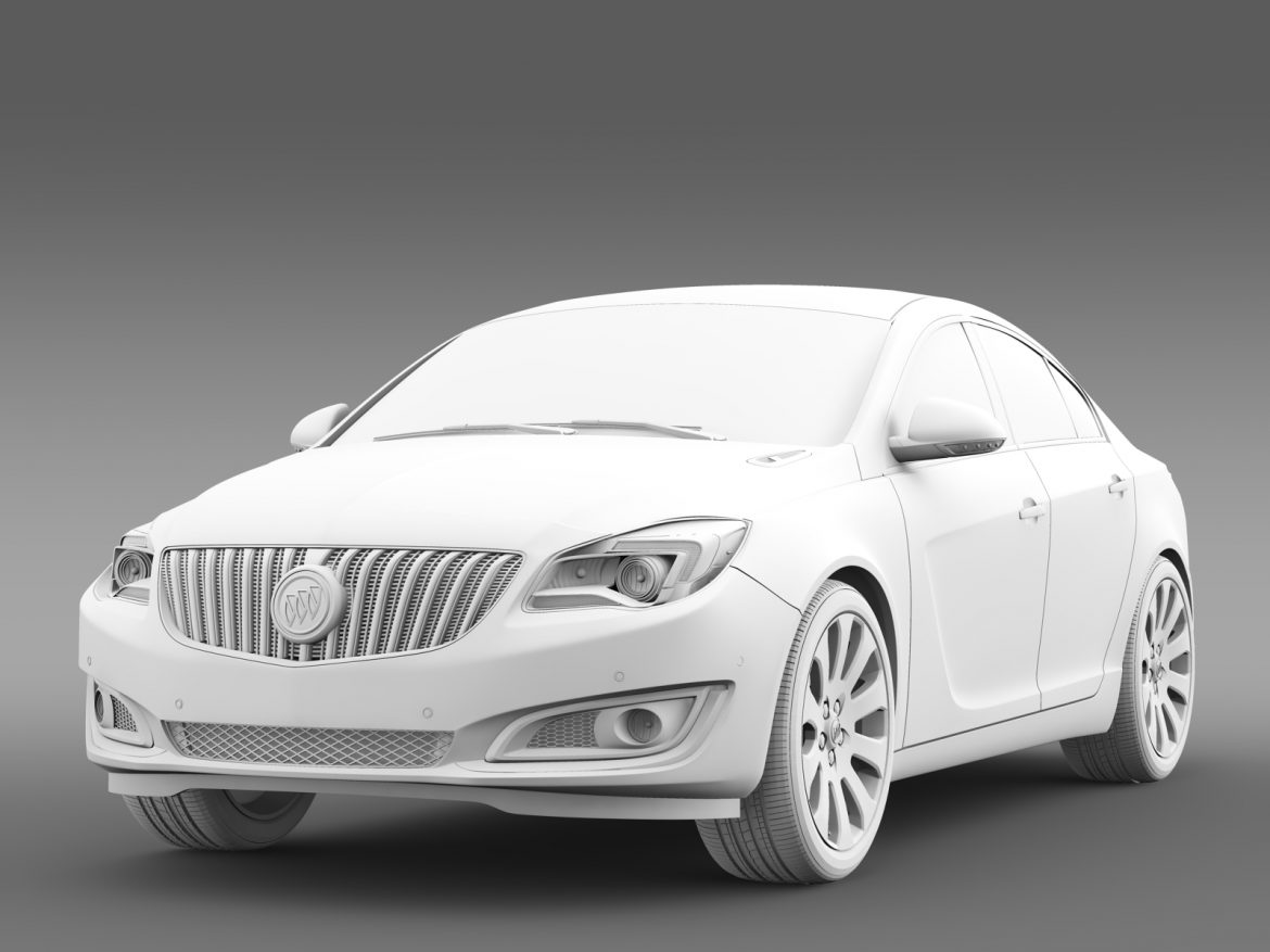 buick regal flexfuel 2015 3d model 3ds max fbx c4d lwo ma mb hrc xsi obj 215191
