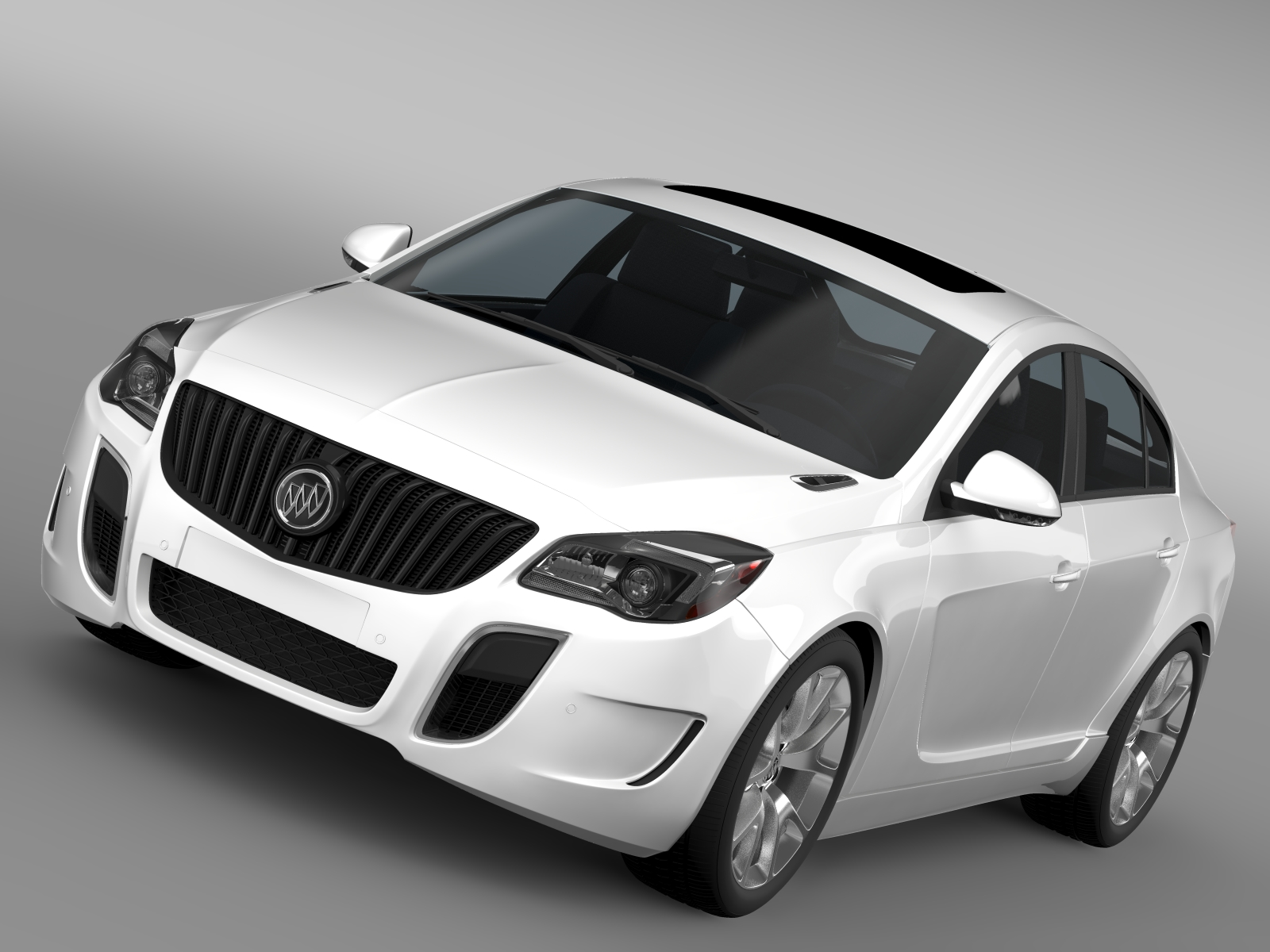 buick regal gs 2015 3d model 3ds max fbx c4d lwo ma mb hrc xsi obj 215196