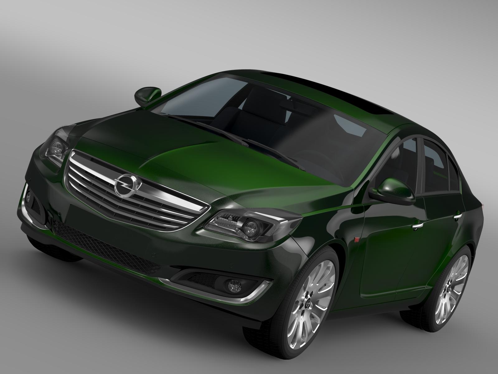 opel insignia hatchback 2015 3d model 3ds max fbx c4d lwo ma mb hrc xsi obj 215275