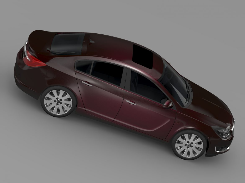 opel insignia hatchback ecoflex 2015 3d model 3ds max fbx c4d lwo ma mb hrc xsi obj 215305