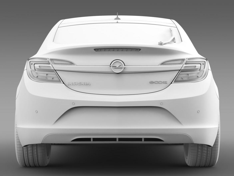 opel insignia hatchback ecoflex 2015 3d model 3ds max fbx c4d lwo ma mb hrc xsi obj 215307