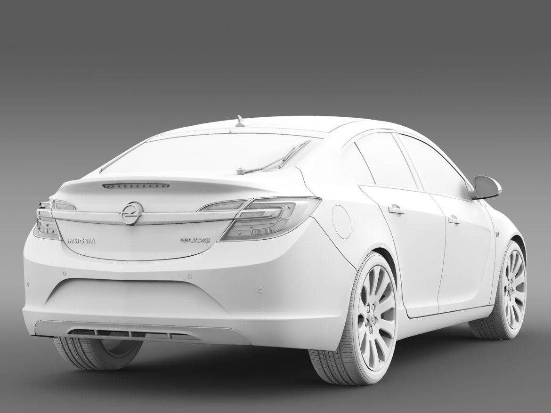 opel insignia hatchback ecoflex 2015 3d model 3ds max fbx c4d lwo ma mb hrc xsi obj 215309