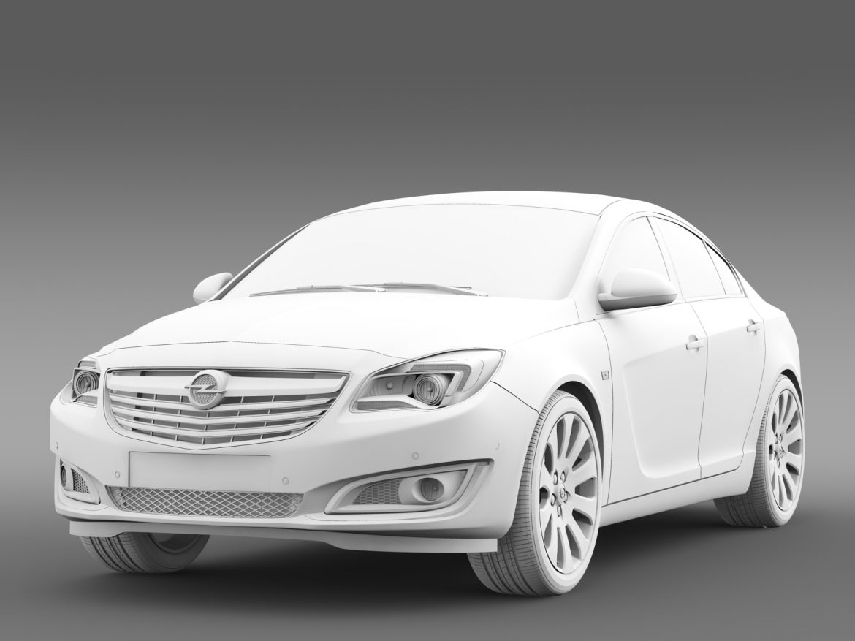 opel insignia hatchback ecoflex 2015 3d model 3ds max fbx c4d lwo ma mb hrc xsi obj 215310