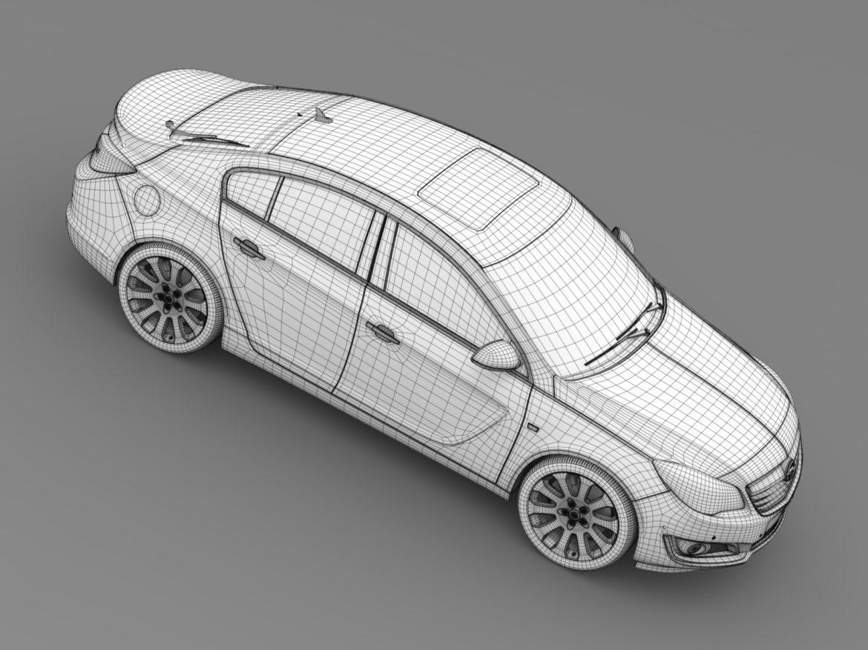 opel insignia hatchback ecoflex 2015 3d model 3ds max fbx c4d lwo ma mb hrc xsi obj 215313