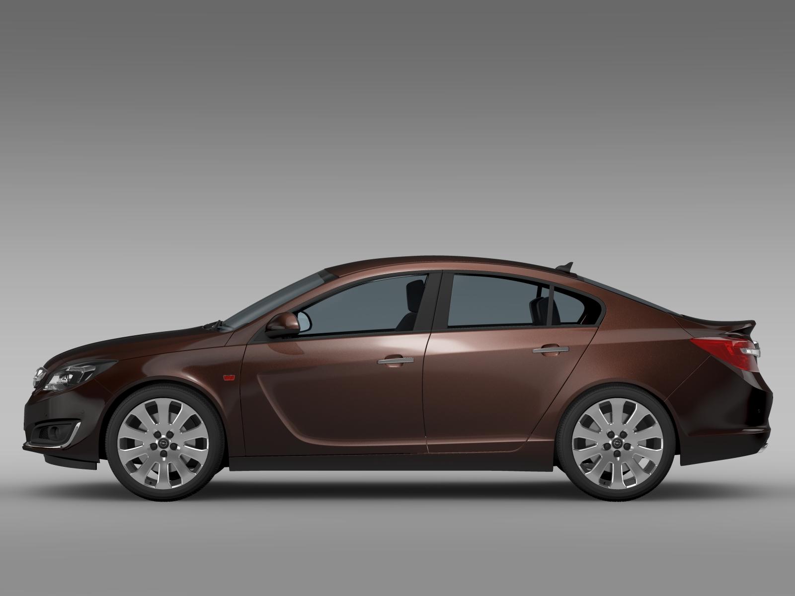opel insignia turbo 2015 3d model vehicles 3d models. Black Bedroom Furniture Sets. Home Design Ideas