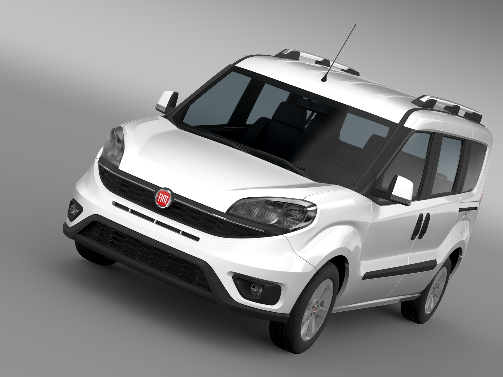Fiat Doblo 263 UK spec 2015 3d model 3ds max fbx c4d lwo ma mb hrc xsi obj 215411