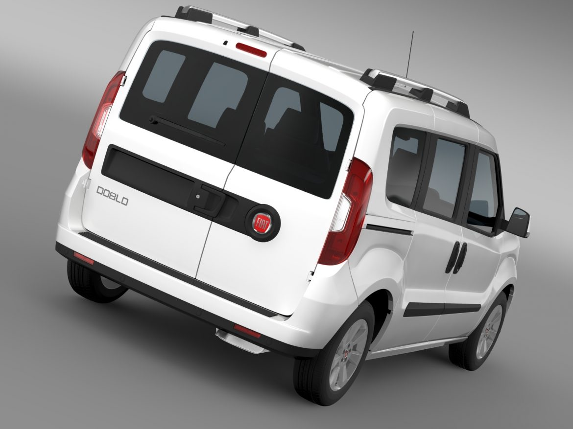 fiat doblo 263 uk spec 2015 3d model 3ds max fbx c4d lwo ma mb hrc xsi obj 215412