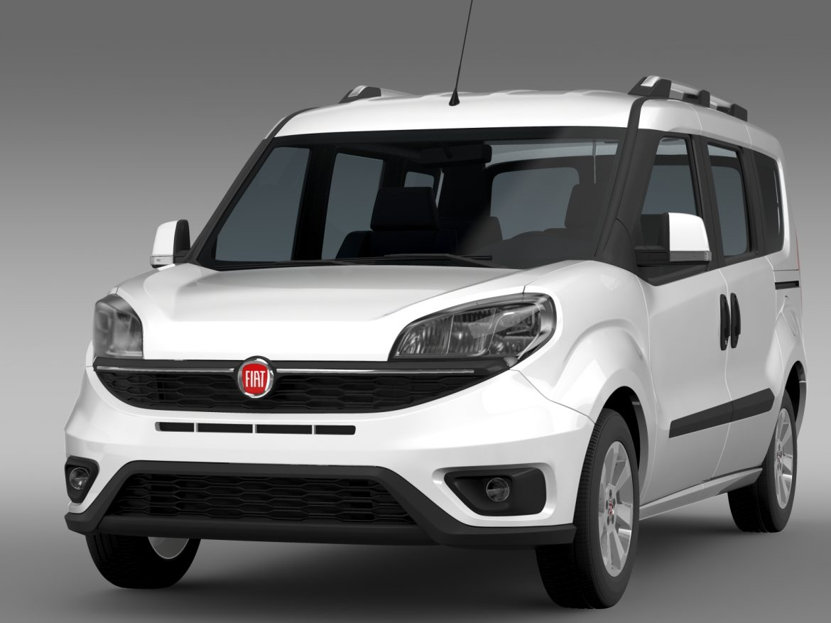 fiat doblo 263 uk spec 2015 3d model 3ds max fbx c4d lwo ma mb hrc xsi obj 215413
