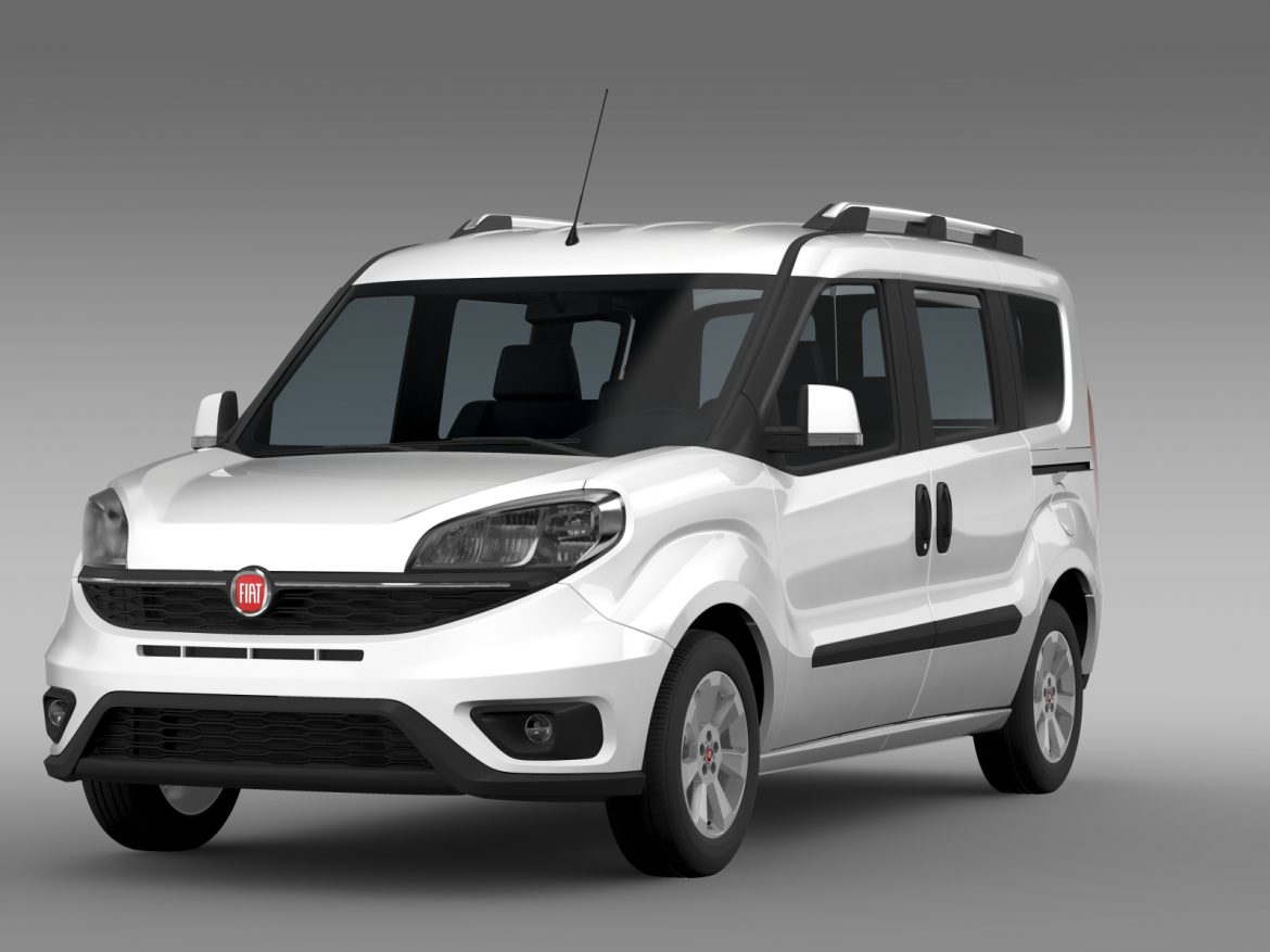 fiat doblo 263 uk spec 2015 3d model 3ds max fbx c4d lwo ma mb hrc xsi obj 215414