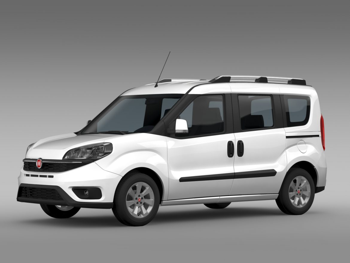 fiat doblo 263 uk spec 2015 3d model 3ds max fbx c4d lwo ma mb hrc xsi obj 215415
