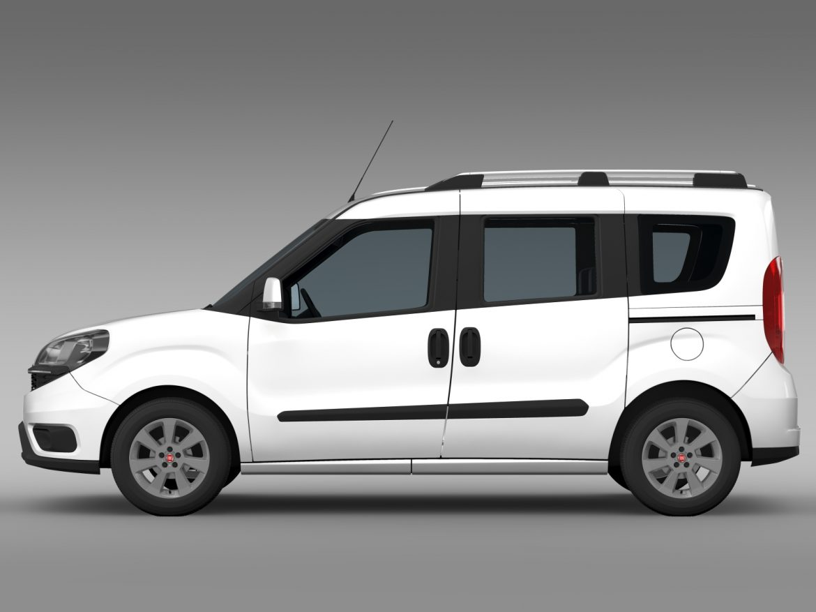 fiat doblo 263 uk spec 2015 3d model 3ds max fbx c4d lwo ma mb hrc xsi obj 215416
