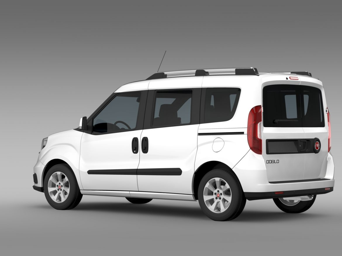 fiat doblo 263 uk spec 2015 3d model 3ds max fbx c4d lwo ma mb hrc xsi obj 215417