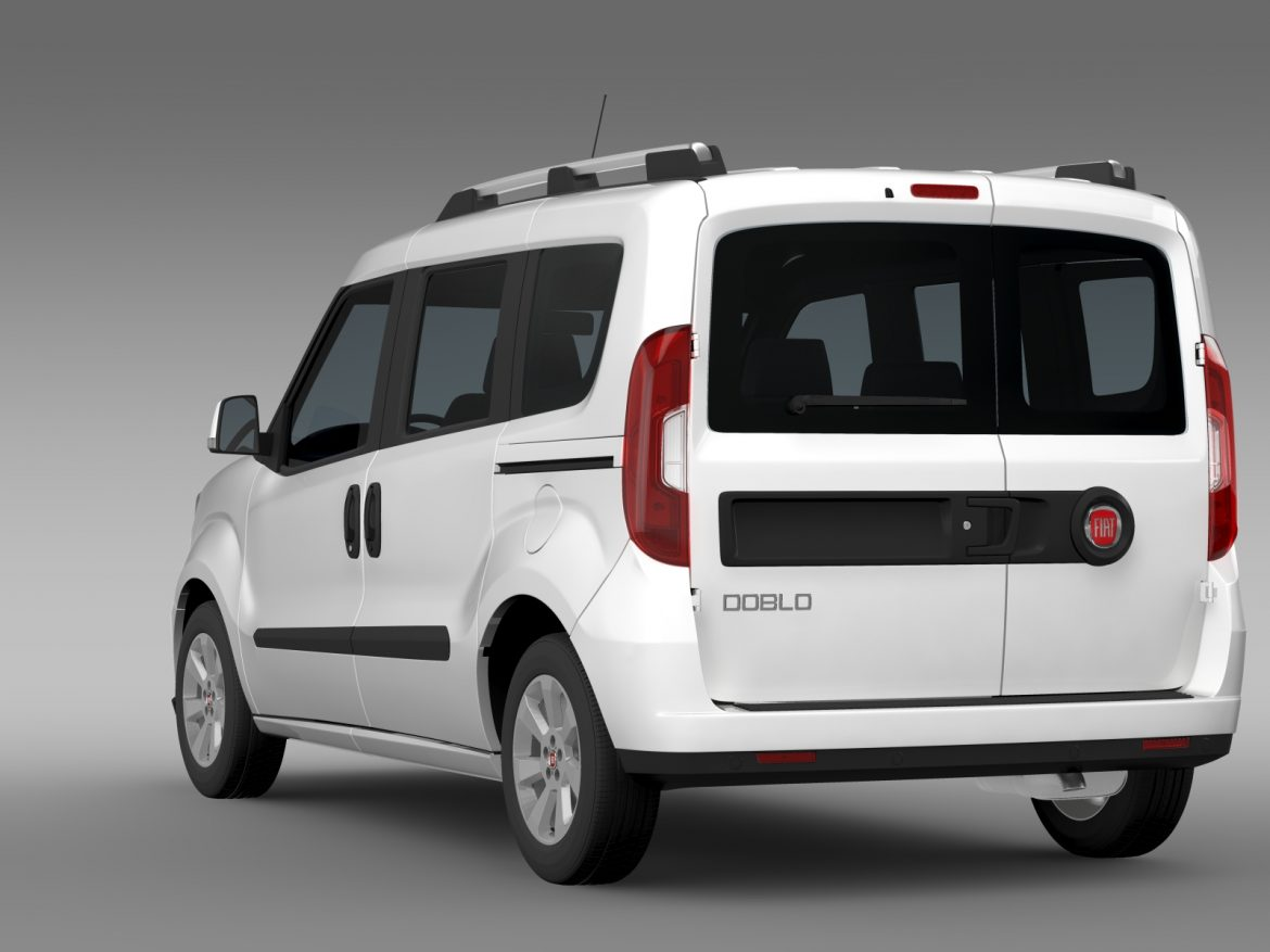 fiat doblo 263 uk spec 2015 3d model 3ds max fbx c4d lwo ma mb hrc xsi obj 215418