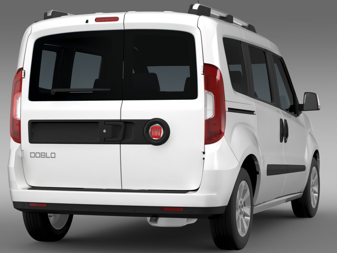 fiat doblo 263 uk spec 2015 3d model 3ds max fbx c4d lwo ma mb hrc xsi obj 215419