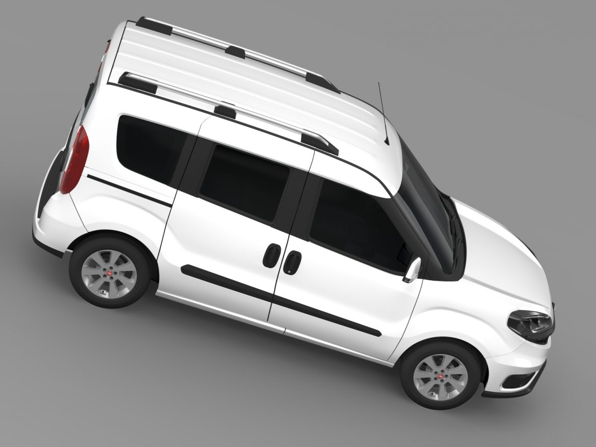 fiat doblo 263 uk spec 2015 3d model 3ds max fbx c4d lwo ma mb hrc xsi obj 215420