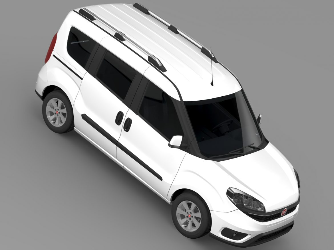 fiat doblo 263 uk spec 2015 3d model 3ds max fbx c4d lwo ma mb hrc xsi obj 215421