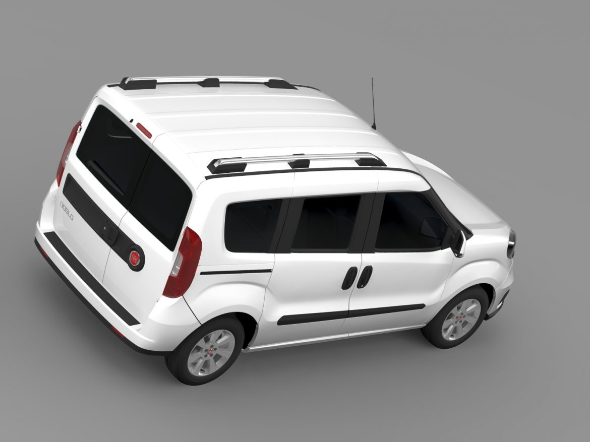 fiat doblo 263 uk spec 2015 3d model 3ds max fbx c4d lwo ma mb hrc xsi obj 215422