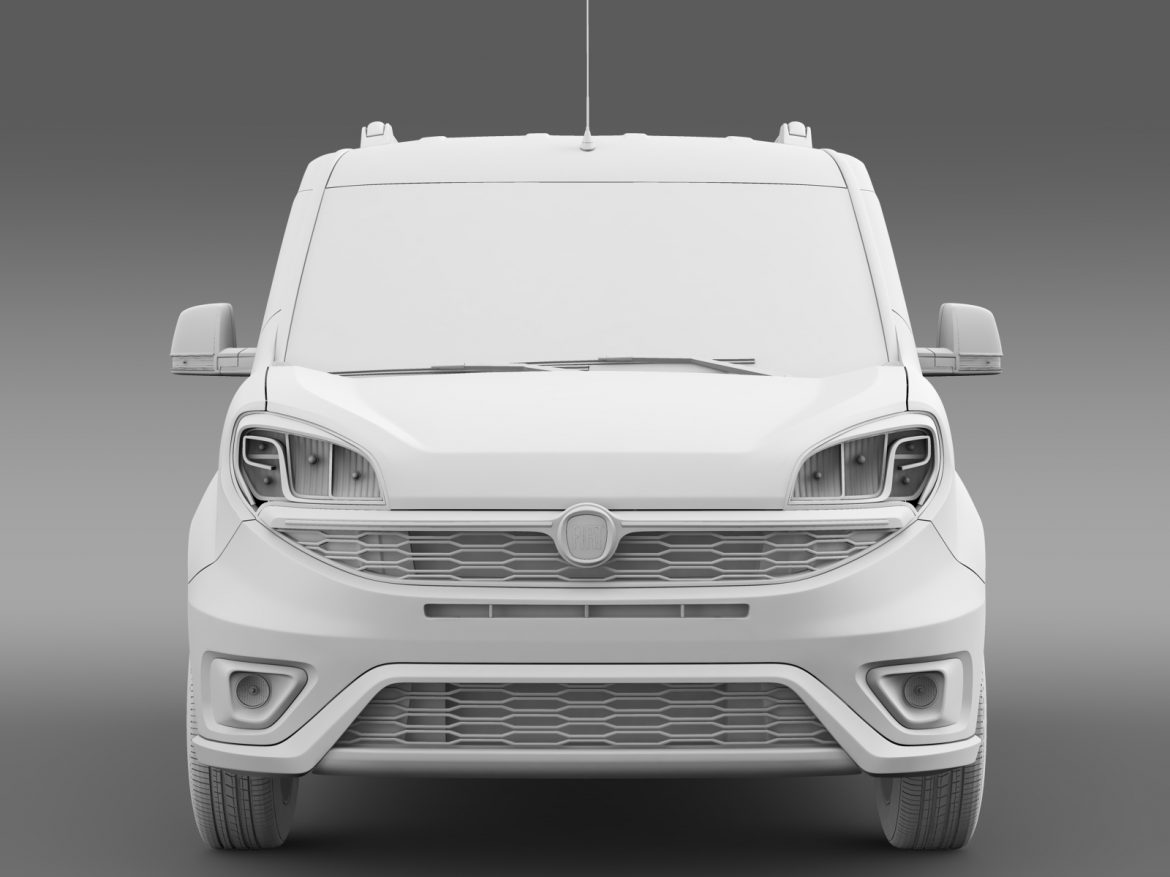 fiat doblo 263 uk spec 2015 3d model 3ds max fbx c4d lwo ma mb hrc xsi obj 215423