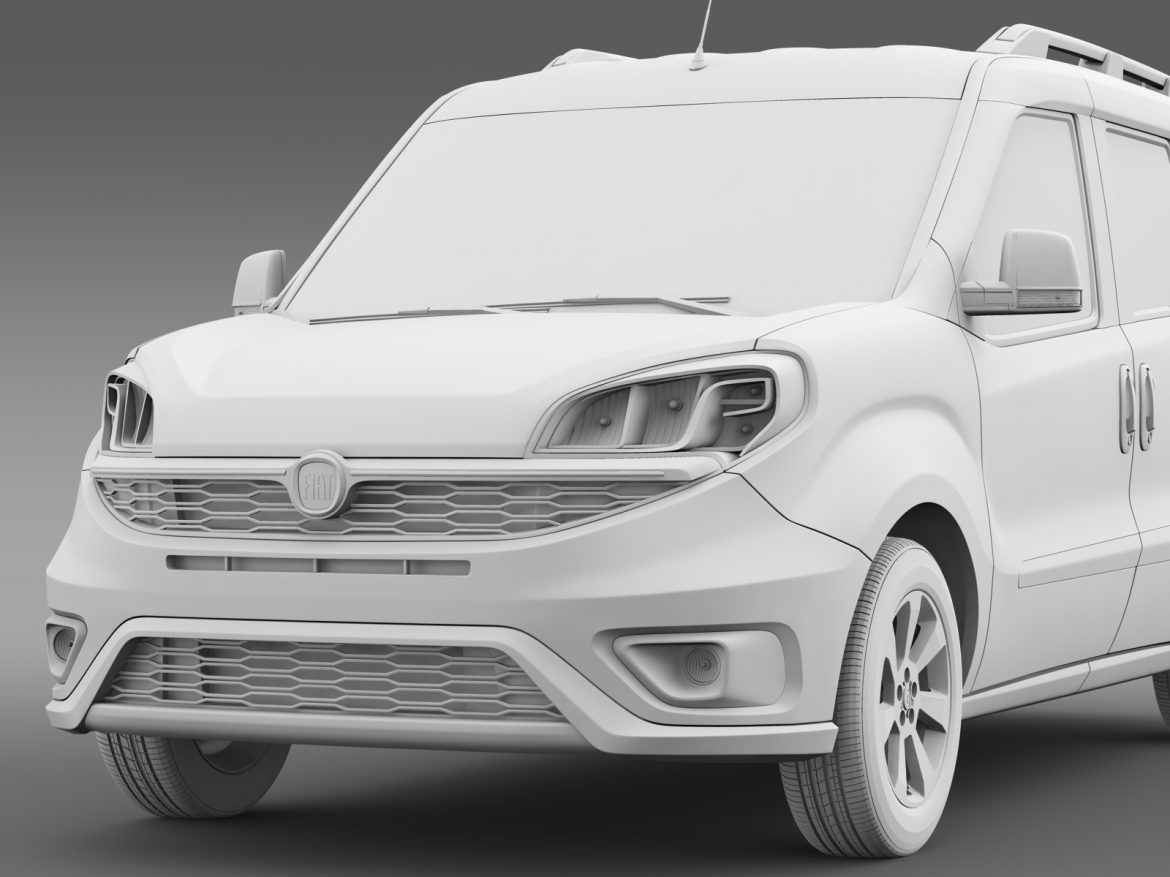fiat doblo 263 uk spec 2015 3d model 3ds max fbx c4d lwo ma mb hrc xsi obj 215425