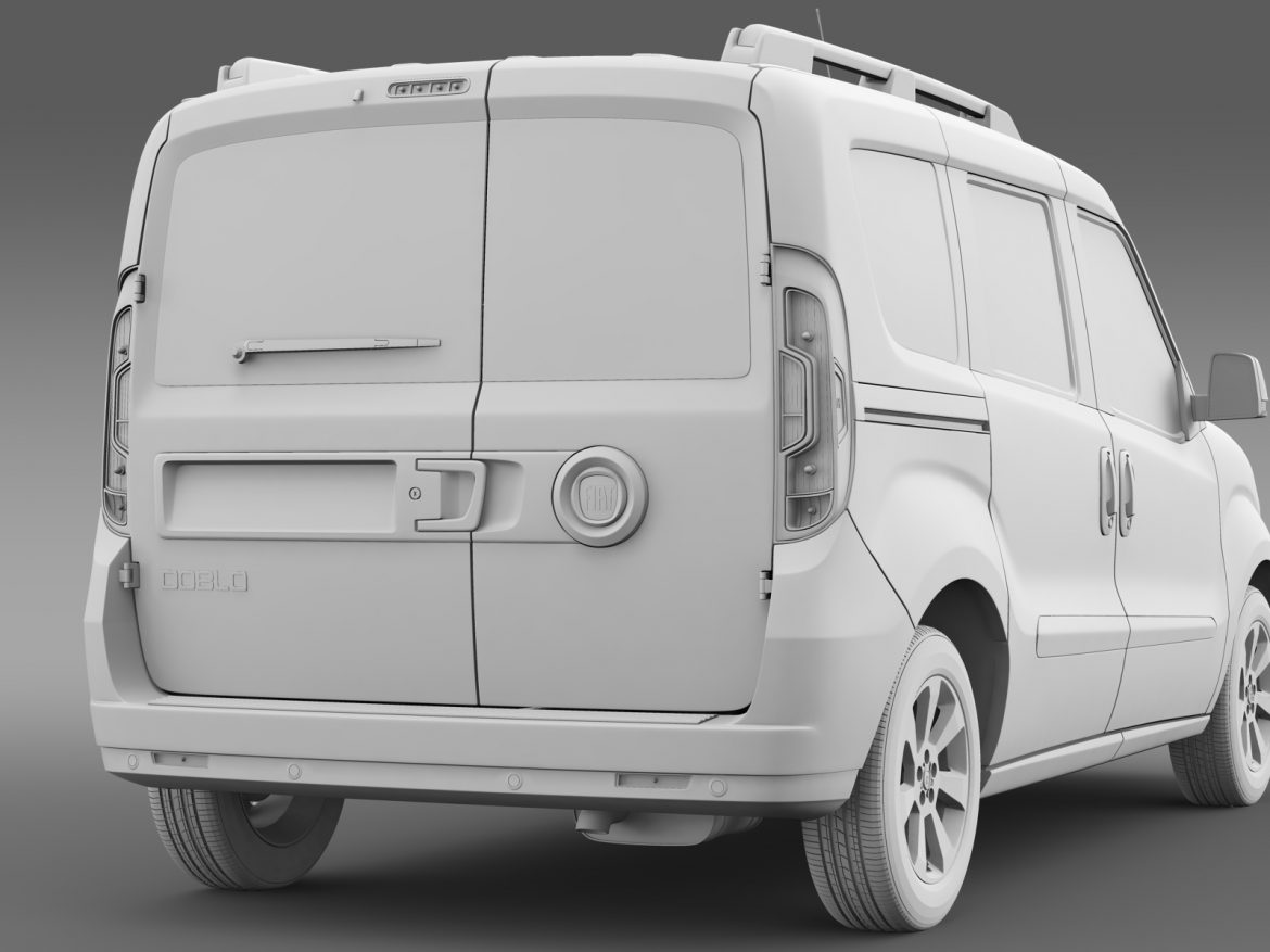 fiat doblo 263 uk spec 2015 3d model 3ds max fbx c4d lwo ma mb hrc xsi obj 215426