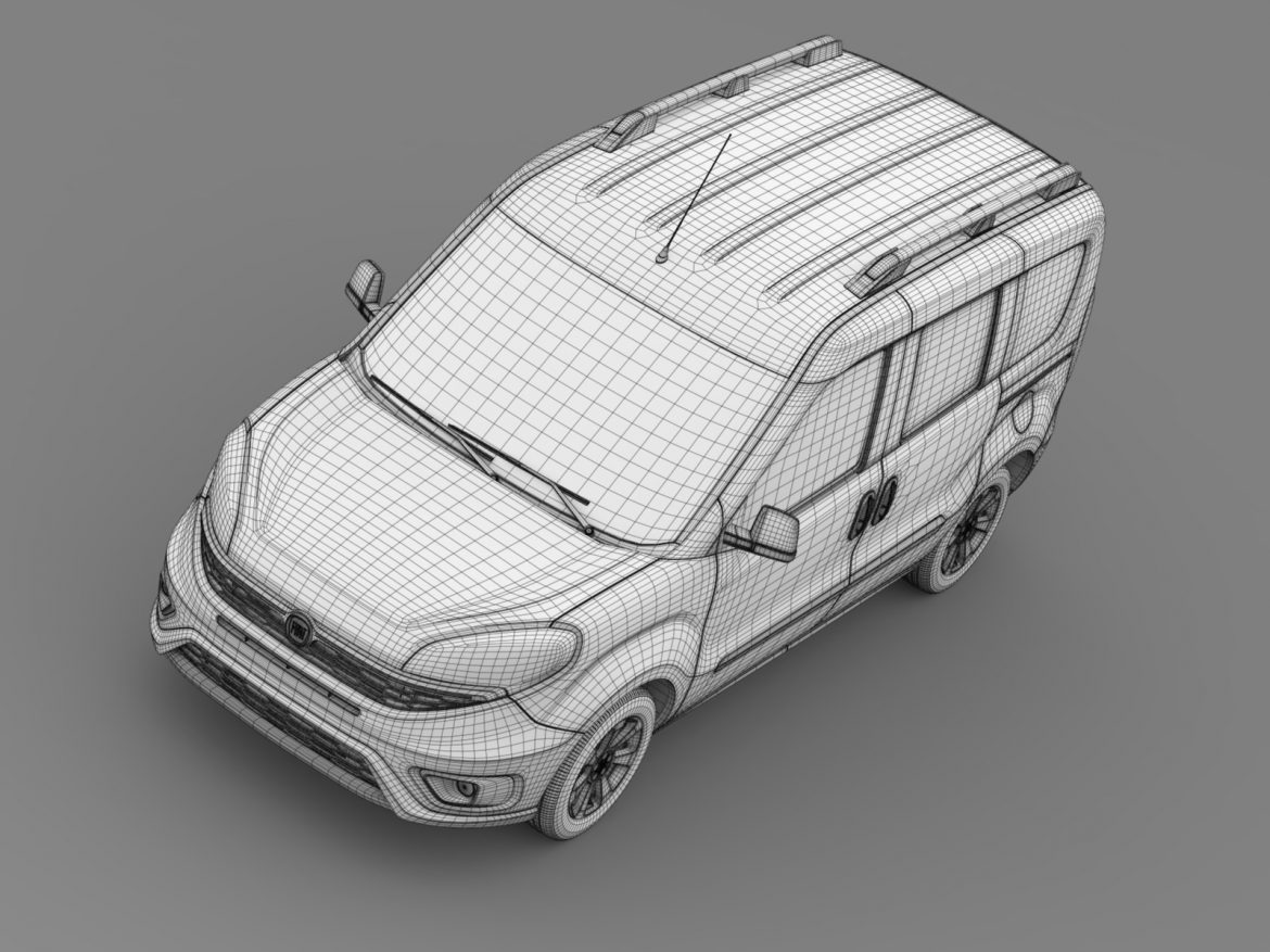 fiat doblo 263 uk spec 2015 3d model 3ds max fbx c4d lwo ma mb hrc xsi obj 215429