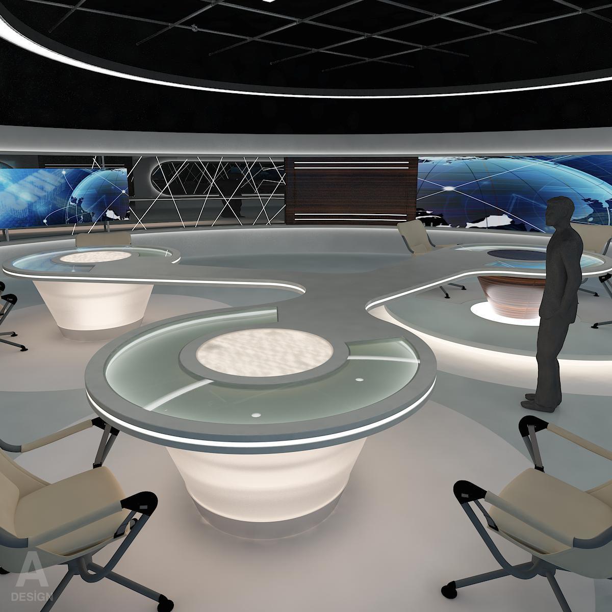 виртуал өргөн нэвтрүүлгийн телевизийн мэдээллийн студи 028 3d загвар max dxf fbx бүтэцтэй obj 215567