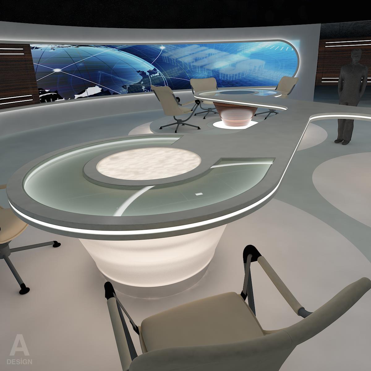 виртуал өргөн нэвтрүүлгийн телевизийн мэдээллийн студи 028 3d загвар max dxf fbx бүтэцтэй obj 215568