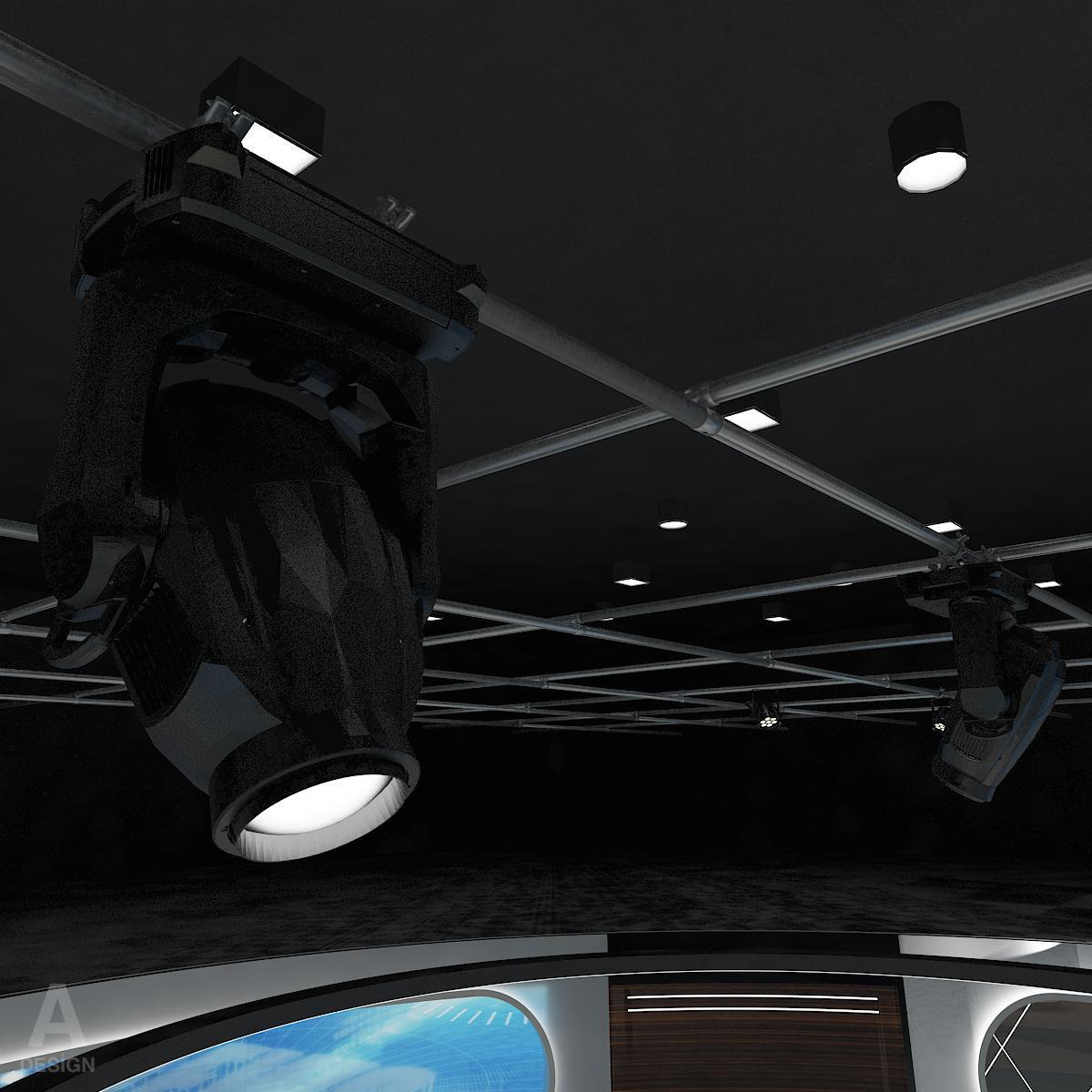 виртуал өргөн нэвтрүүлгийн телевизийн мэдээллийн студи 028 3d загвар max dxf fbx бүтэцтэй obj 215577