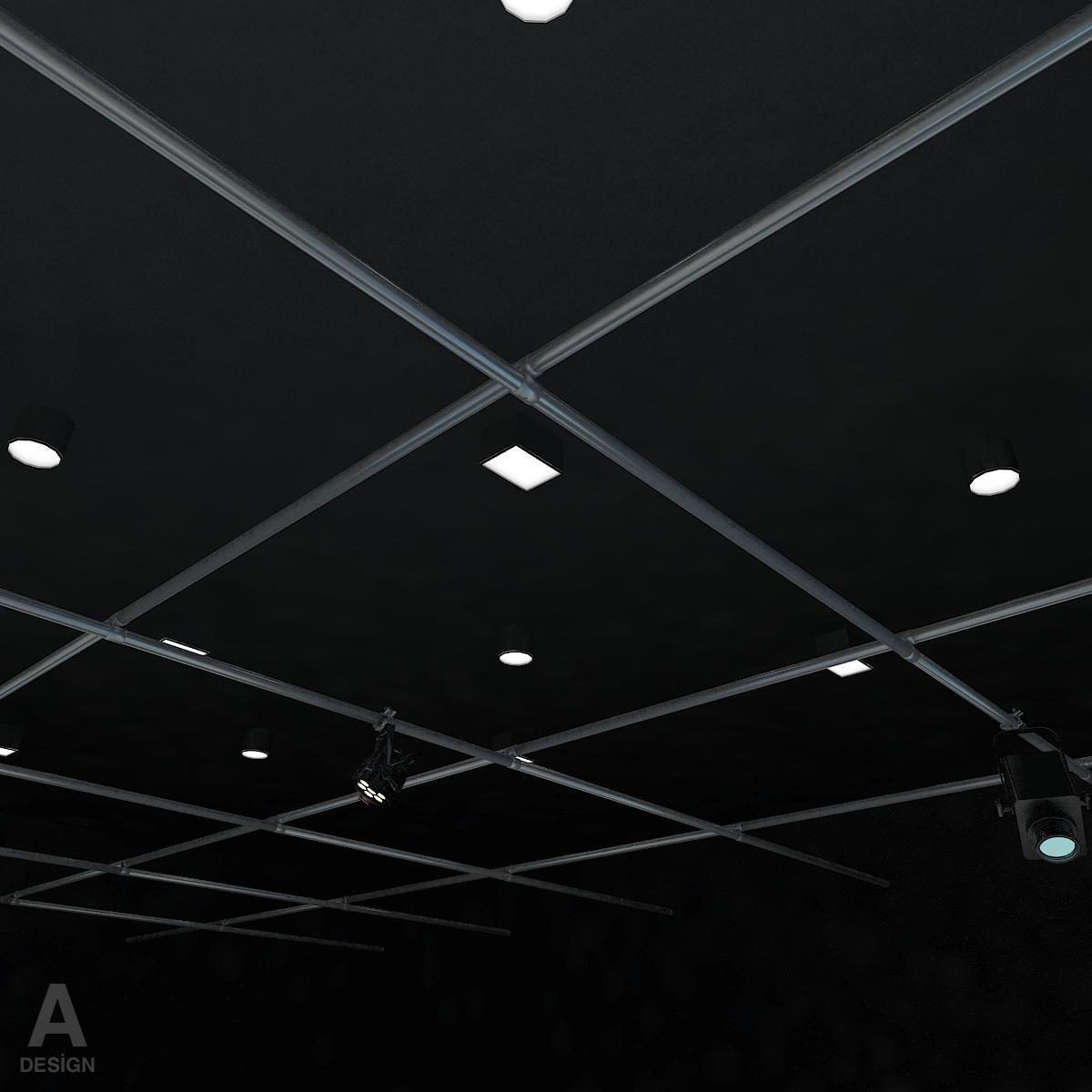 виртуал өргөн нэвтрүүлгийн телевизийн мэдээллийн студи 028 3d загвар max dxf fbx бүтэцтэй obj 215580