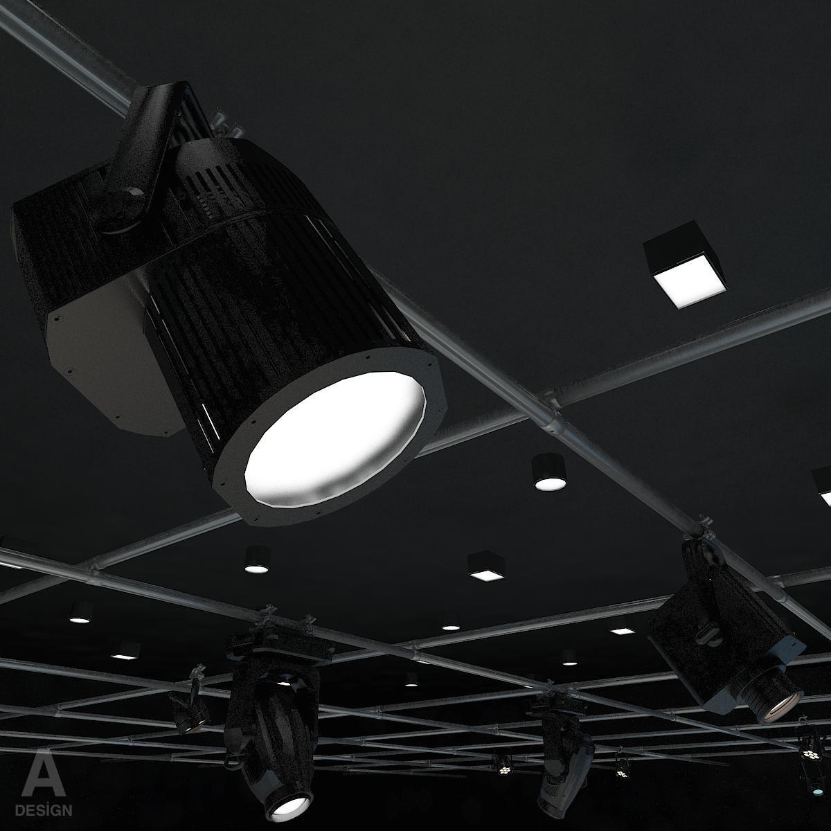 виртуал өргөн нэвтрүүлгийн телевизийн мэдээллийн студи 028 3d загвар max dxf fbx бүтэцтэй obj 215582